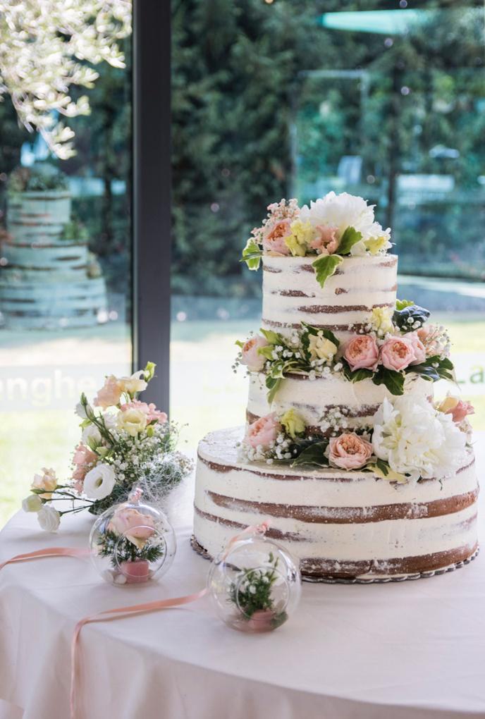 naked cake matrimonio
